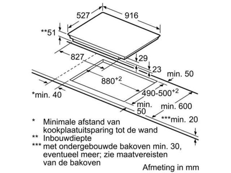 Bosch PXX975DC1E inductie-kookplaat 90cm