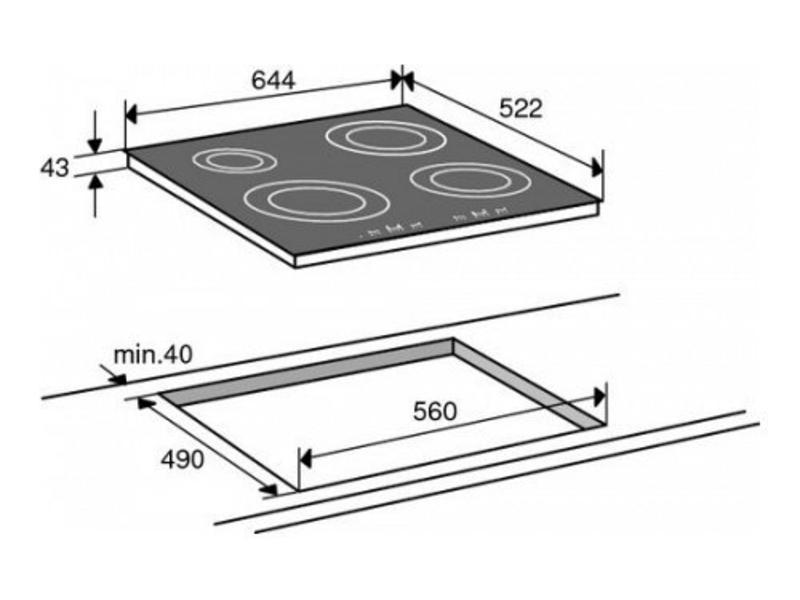 Atag HI6271M inductie-kookplaat 60cm
