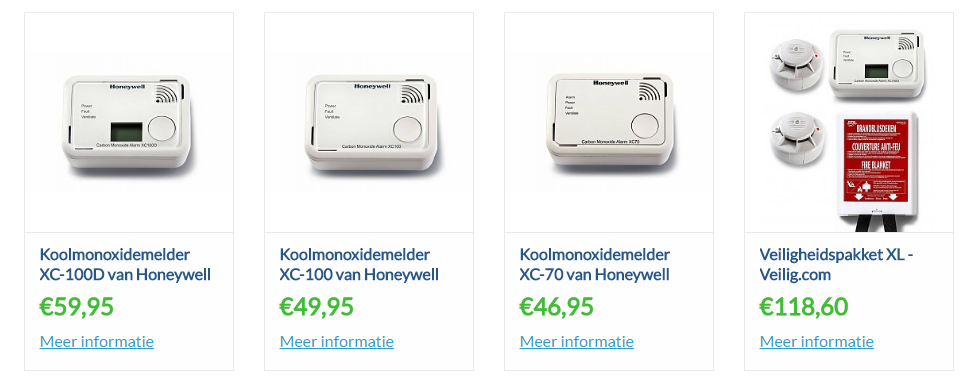 Honeywell koolmonoxidemelders