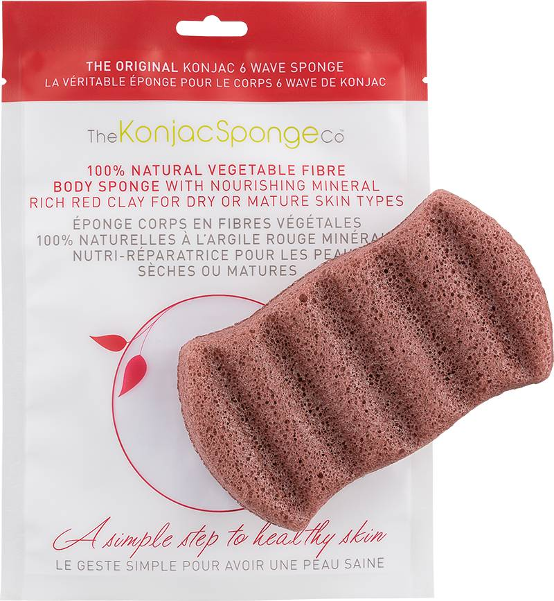 Konjac Sponge Konjac Bath Sponge - Red Clay