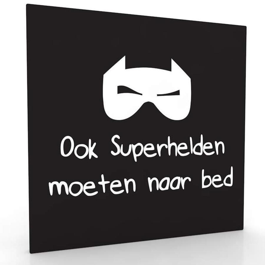 Muurdecoratie Ook superhelden moeten naar bed