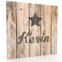 Muurdecoratie hout-look - Solid Star