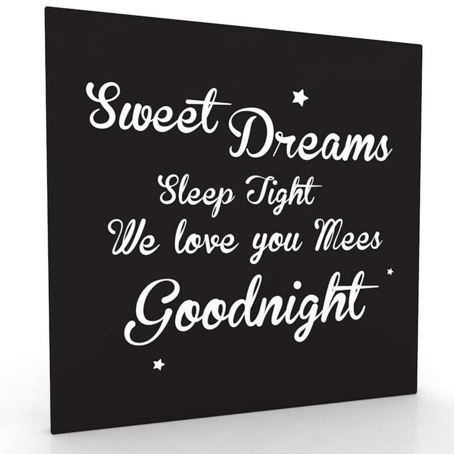 muurdecoratie: Sweet Dreams z/w