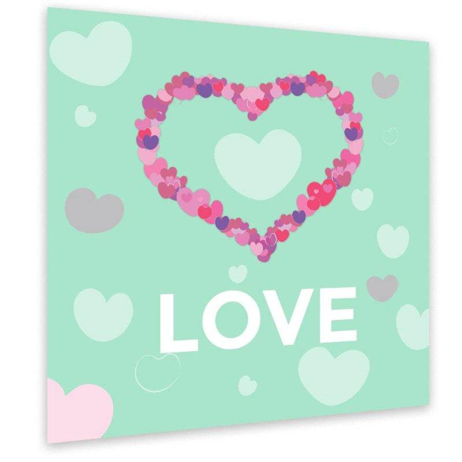Muurdecoratie: Hart van hartjes