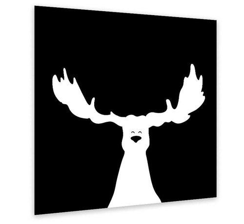Muurdecoratie zwart-wit: Eland
