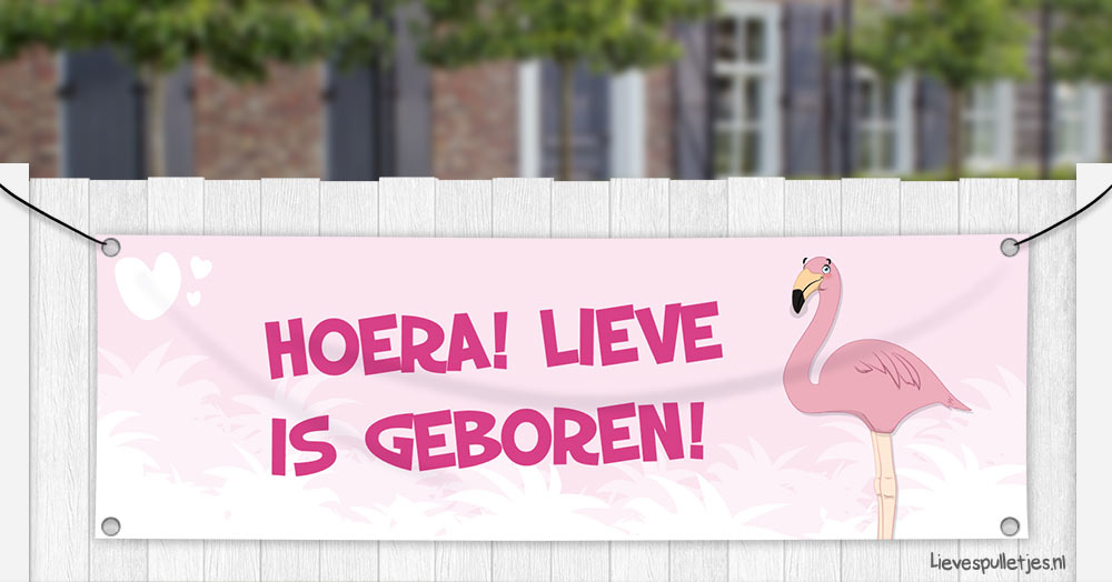 geboortespandoek Flamingo