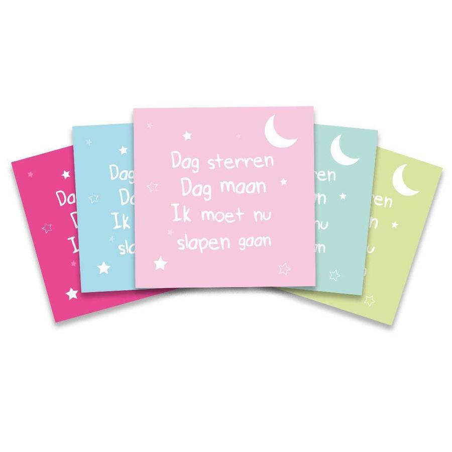 Dag sterren dag maan, ik moet nu slapen gaan roze