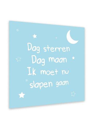 Dag sterren dag maan, ik moet nu slapen gaan Blauw