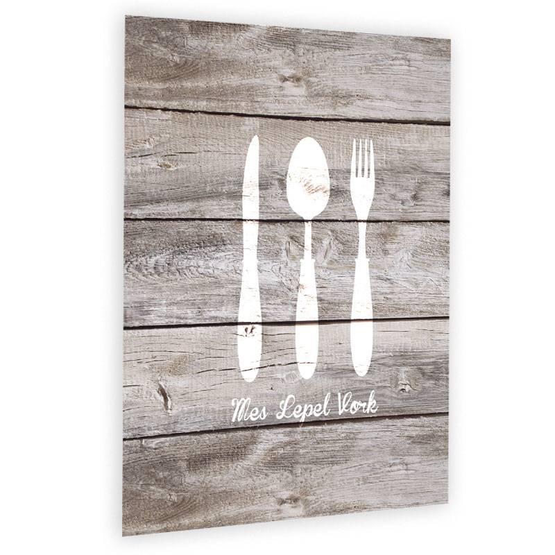muurdecoratie voor de keuken mes lepel vork