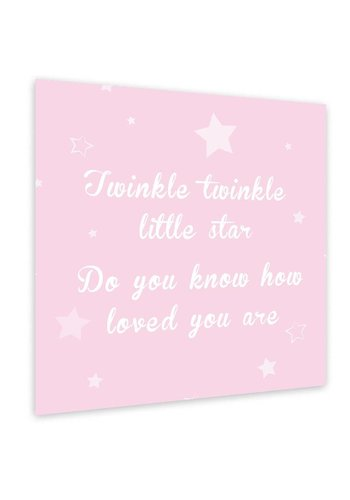 Muurdecoratie: Twinkle Twinkle Little Star - roze