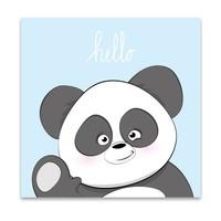 Muurdecoratie: Lieve Panda blauw