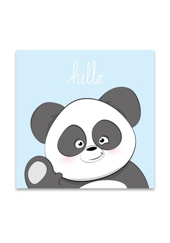 Lievespulletjes Muurdecoratie: Lieve Panda blauw