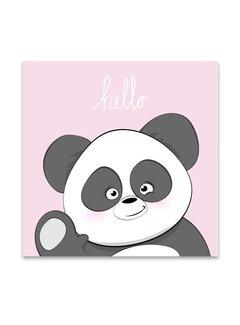 Lievespulletjes Muurdecoratie: Lieve Panda roze