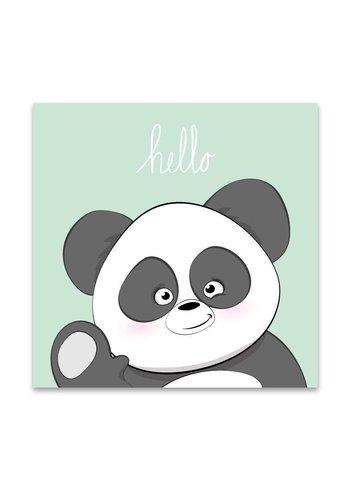 Lievespulletjes Muurdecoratie: Lieve Panda mintgroen