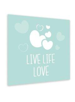 Lievespulletjes Muurdecoratie: Live Life Love Mint
