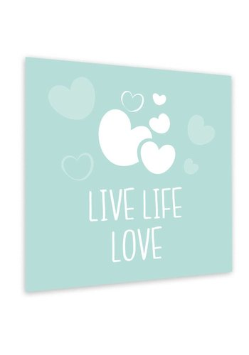 Muurdecoratie: Live Life Love Mint