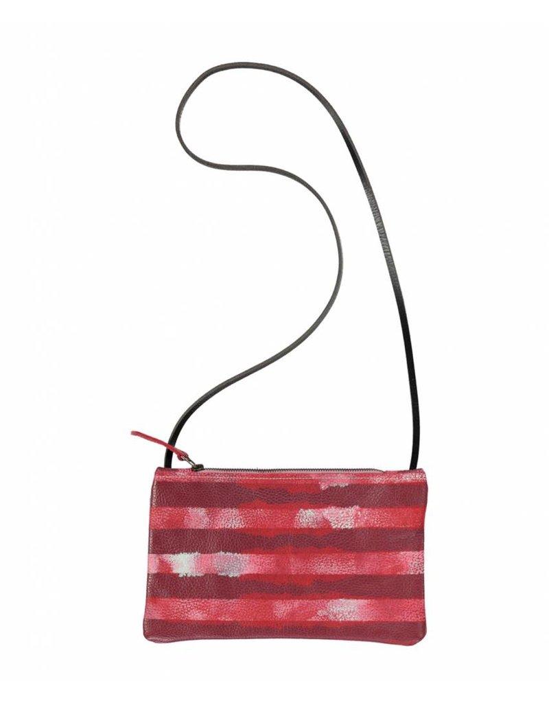 Tesj Handtasje rood wit gestreept