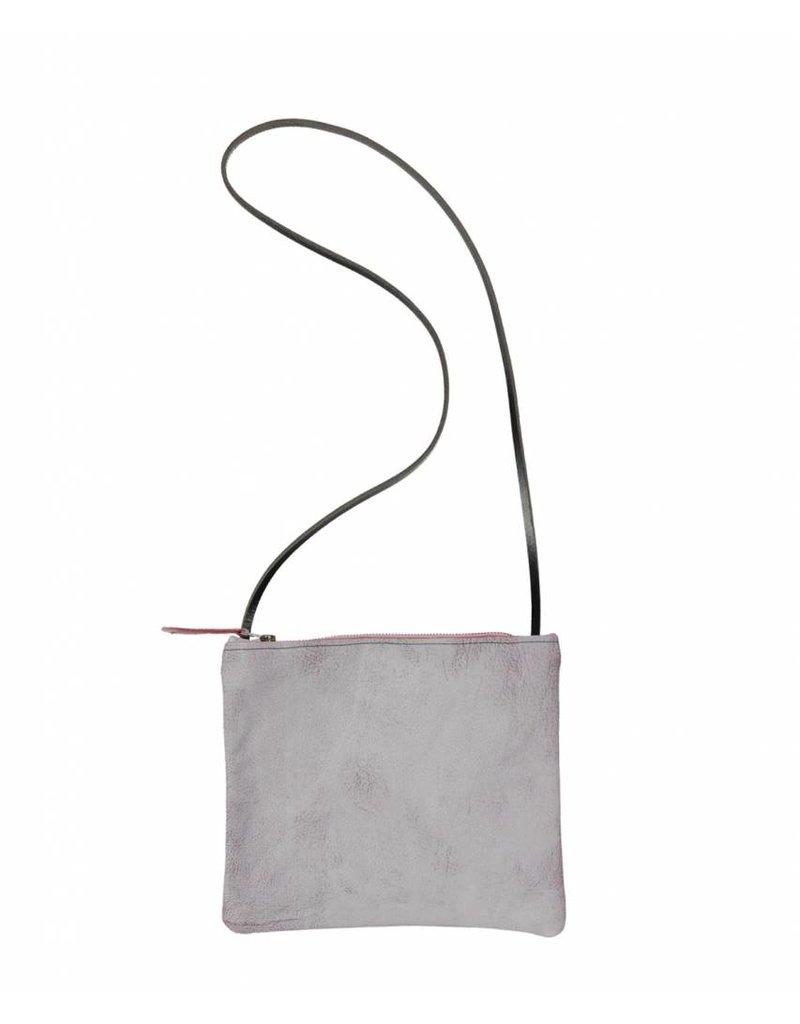 Tesj Handtasje grijs/rood