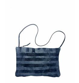 Tesj Medium handtas gestreept zwart/grijs