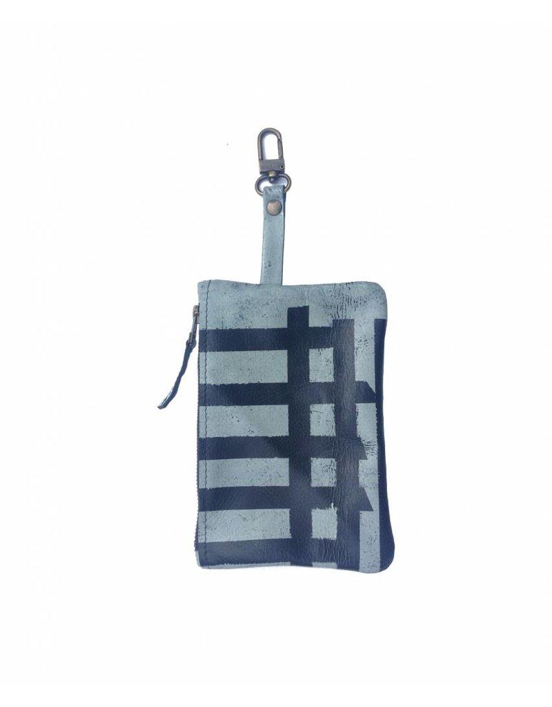 Tesj Clutch / bag-in-bag / wallet streep
