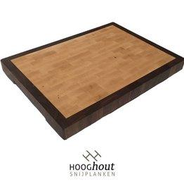 Hooghout Snijplanken Esdoorn en Noten 44 x 32 x 4 cm