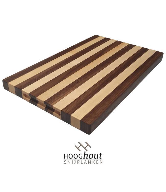 Hooghout Snijplanken Esdoorn en Noten Snijplank 45 x 28 x 2,5 cm