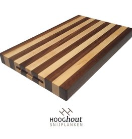 Hooghout Snijplanken Esdoorn en Noten Snijplank 45 x 28 x 4 cm