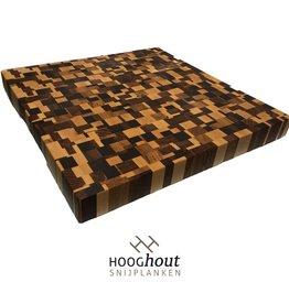 Hooghout Snijplanken Snijplank Kopshout 40x40x4 cm