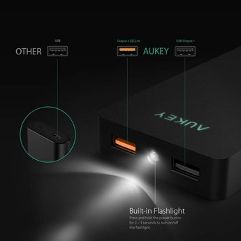 Aukey Powerbank 10000mAh AiPower & Qualcomm Quick Charge 2.0