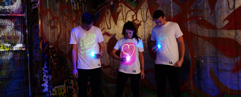 illuminated neon shirt