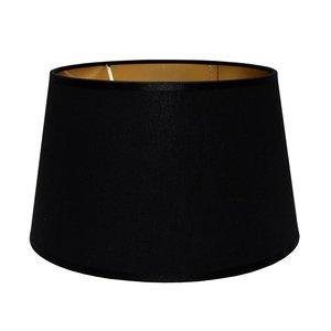 RamLux Lampenschirm 35 cm Konisch POLYCOTTON Schwarz | Gold