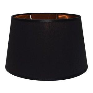 RamLux Lampenkap 35 cm Drum POLYCOTTON Zwart - Koper