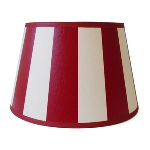 Light & Living Lampenkap 25 cm Drum KING Rood