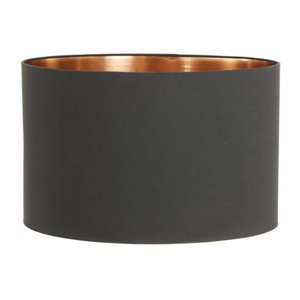 Light & Living Lampenkap 25 cm Cilinder MIRA Zwart - Rosé Goud