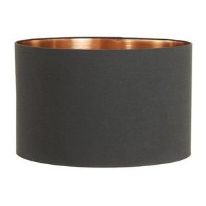 Light & Living Lampenkap 30 cm Cilinder MIRA Zwart - Rosé Goud