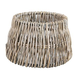 Light & Living Lampenkap 35 cm Drum ROTAN Vertical Weaving Grijs