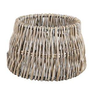 Light & Living Lampenkap 40 cm Drum ROTAN Vertical Weaving Grijs