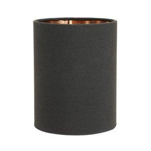 Light & Living Klem Lampenkap 10 cm Cilinder MIRA Zwart - Rosé Goud