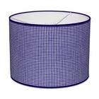Taftan Lampenkap 35 cm Cilinder Kleine Ruit 3 mm Donker Blauw