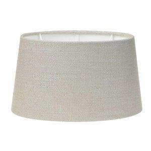 Light & Living Lampenschirm 35 cm Oval LIVIGNO Hellgrau