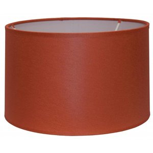 RamLux Lampenschirm 25 cm Zylinder CHINTZ Terrakotta