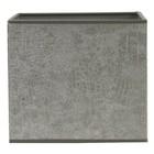 Light & Living Lampenschirm 17 cm Viereckig CHELSEA Velours Silber