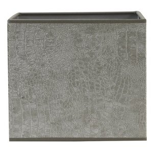 Light & Living Lampenschirm 20 cm Viereckig CHELSEA Velours Silber