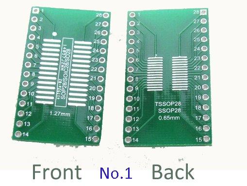 smd naar dip adapter SOP28/SSOP28