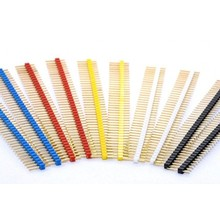 Header Male 1x40 pins in different colours
