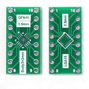 LGA16 QFN16 naar dip16