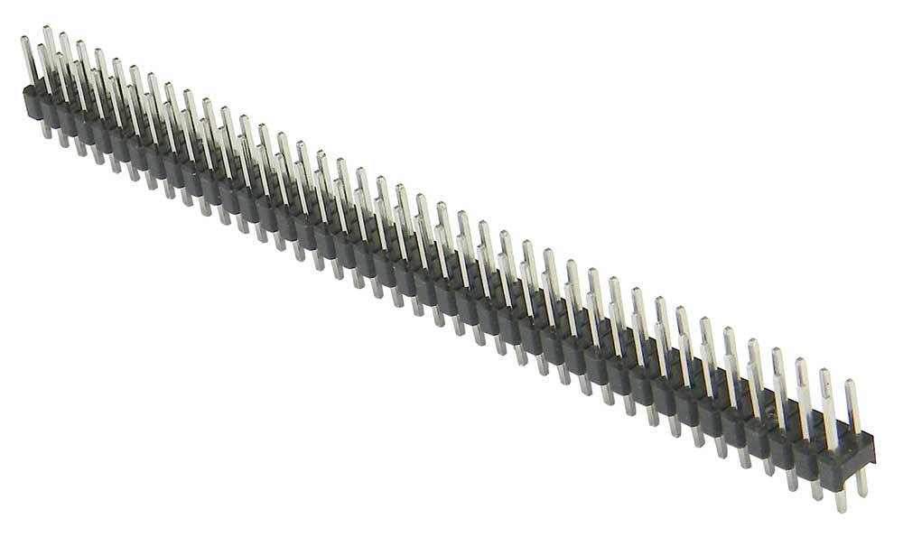 Header male 2x40 pins in different colors
