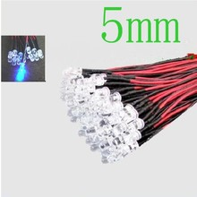 Pre Wired Led 5mm Blauw Helder