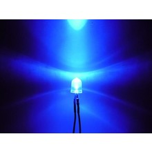 Pre Wired led 10mm blauw helder