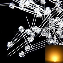 5mm Straw Hat Led Warm White Clear